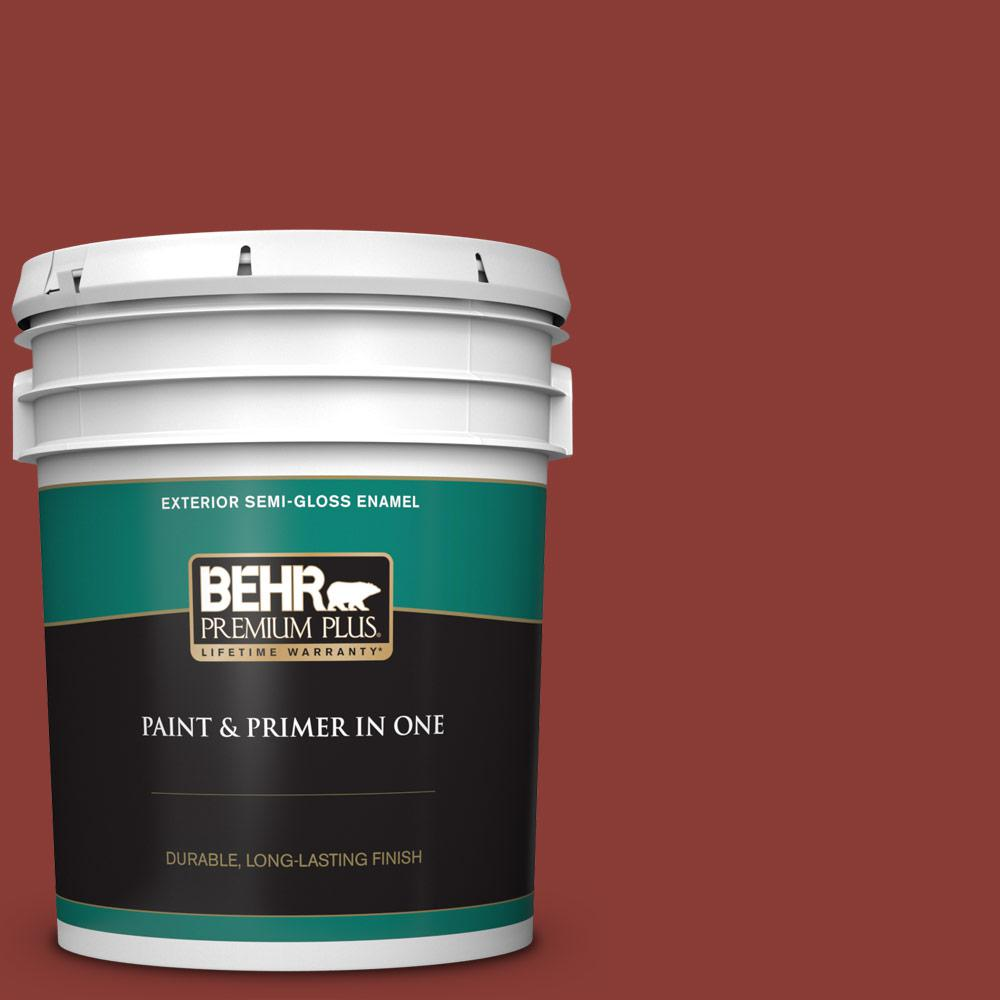 5 gal. #PPF-30 Deep Terra Cotta Semi-Gloss Enamel Exterior Paint and Primer in One