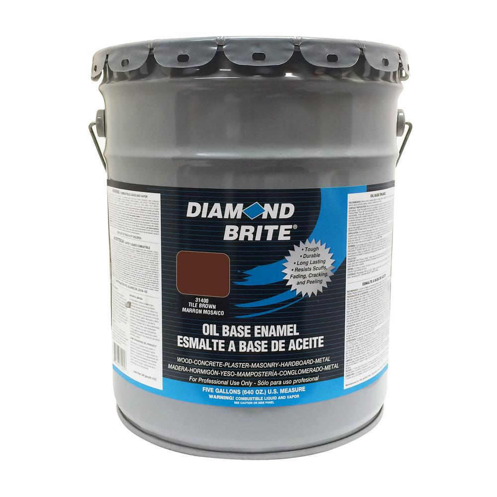 5 gal. Tile Brown Oil Base Enamel Interior/Exterior Paint