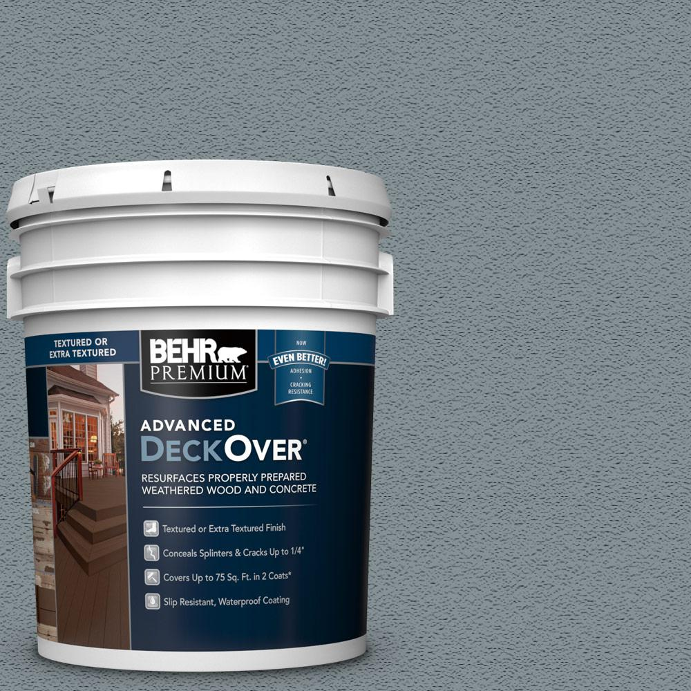 5 gal. #SC-119 Colony Blue Textured Solid Color Exterior Wood and Concrete Coating