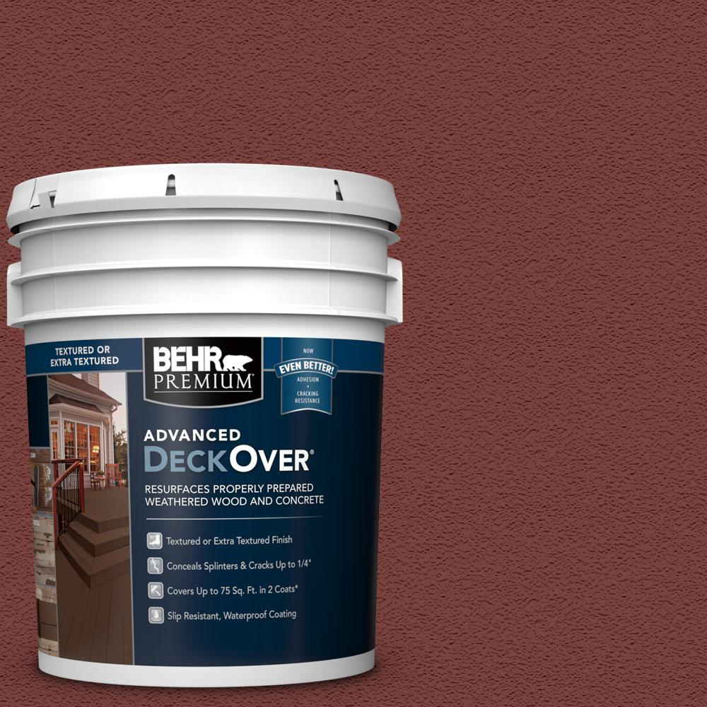 5 gal. #SC-112 Barn Red Textured Solid Color Exterior Wood and Concrete Coating