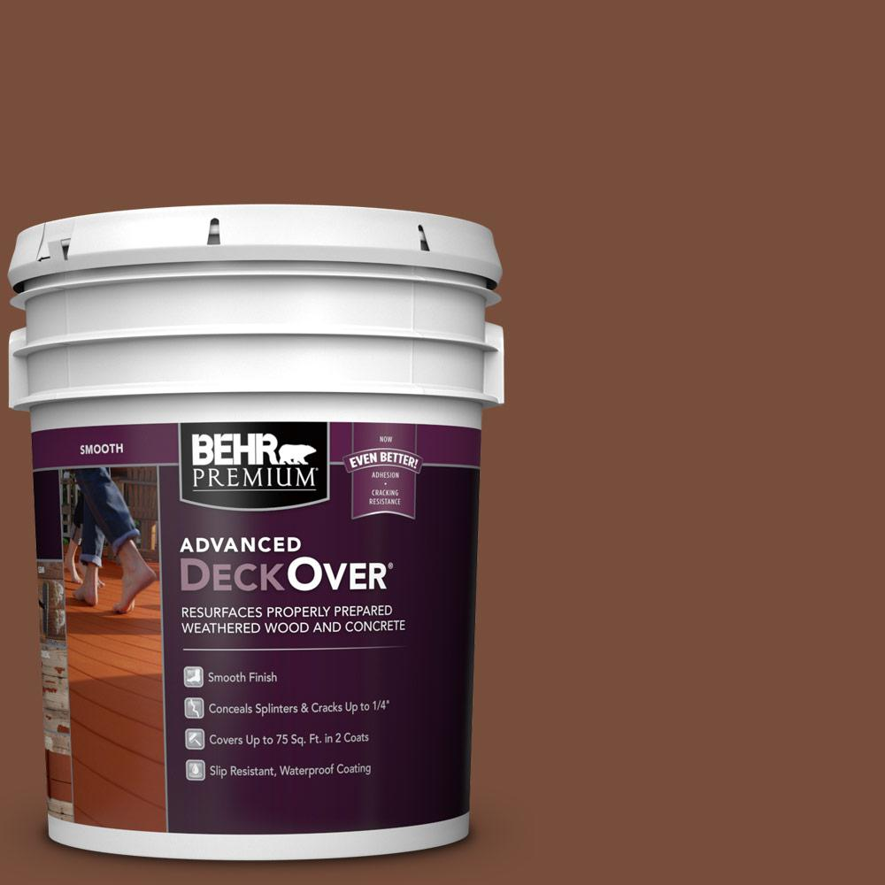 5 gal. #SC-142 Cappuccino Smooth Solid Color Exterior Wood and Concrete Coating