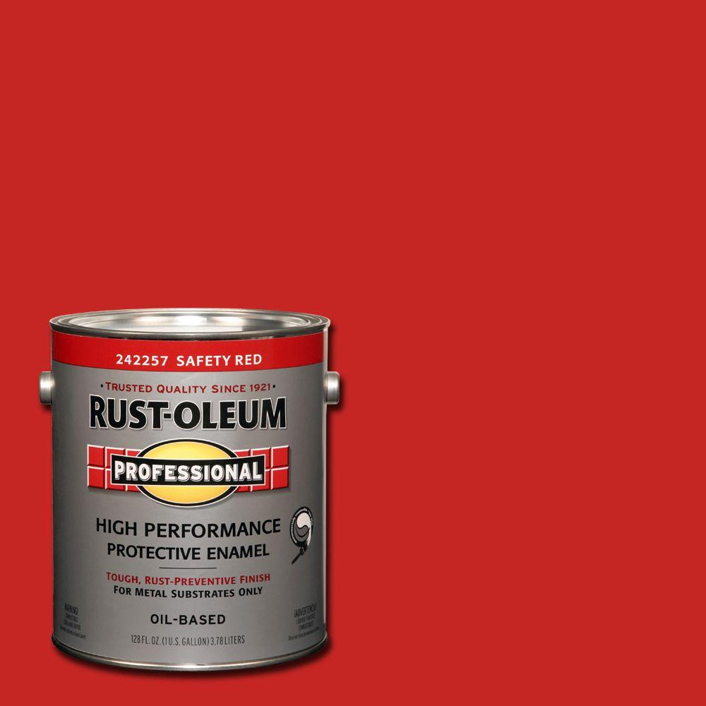 1 gal. High Performance Protective Enamel Gloss Safety Red Oil-Based Interior/Exterior Metal Paint (2-Pack)