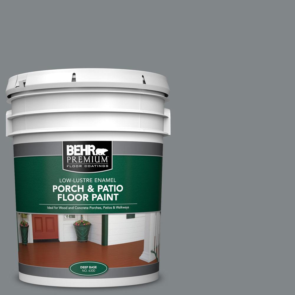 5 gal. #PFC-64 Storm Low-Lustre Enamel Interior/Exterior Porch and Patio Floor Paint