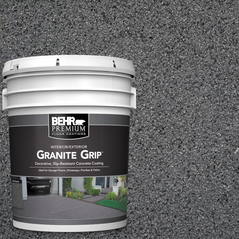 5 gal. #GG-17 Mineral Gray Decorative Flat Interior/Exterior Concrete Floor Coating