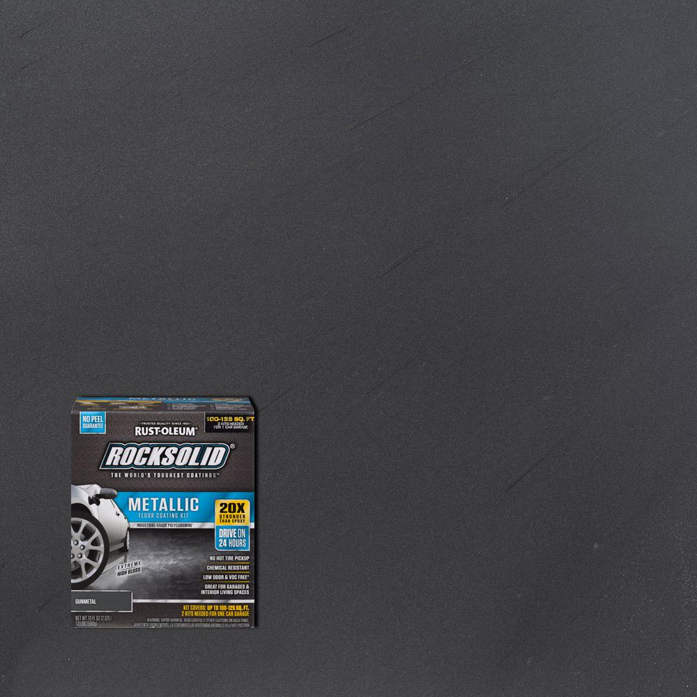 70 oz. Gunmetal Metallic Garage Floor Kit (2-Pack)
